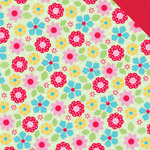 Doodlebug Design - Nifty Notions Collection - 12 x 12 Double Sided Paper - Flower Patches