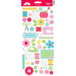 Doodlebug Design - Nifty Notions Collection - Cardstock Stickers - Icons