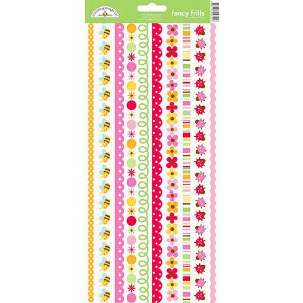 Doodlebug Design - Ladybug Garden Collection - Sugar Coated Cardstock Stickers - Fancy Frills