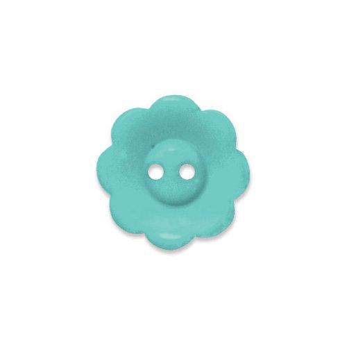 Doodlebug Design - Oodles - Buttons - Flower - 19 mm - Swimming Pool 2
