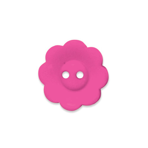 Doodlebug Design - Oodles - Buttons - Flower - 19 mm - Bubblegum 2