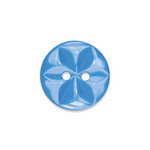 Doodlebug Design - Oodles - Buttons - Round - 19 mm - Blue Jean