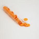 Doodlebug Design - Oodles - Buttons - Round - 19 mm - Tangerine