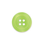 Doodlebug Design - Oodles - Buttons - Round - 19 mm - Limeade 3