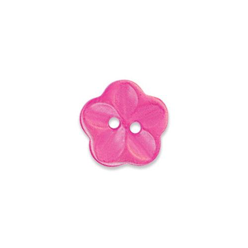 Doodlebug Design - Oodles - Buttons - Flower - 15 mm - Bubblegum