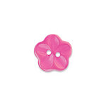 Doodlebug Design - Oodles - Buttons - Flower - 15 mm - Bubblegum