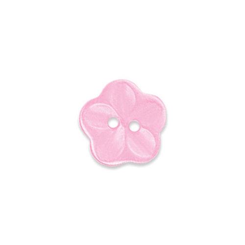 Doodlebug Design - Oodles - Buttons - Flower - 15 mm - Cupcake