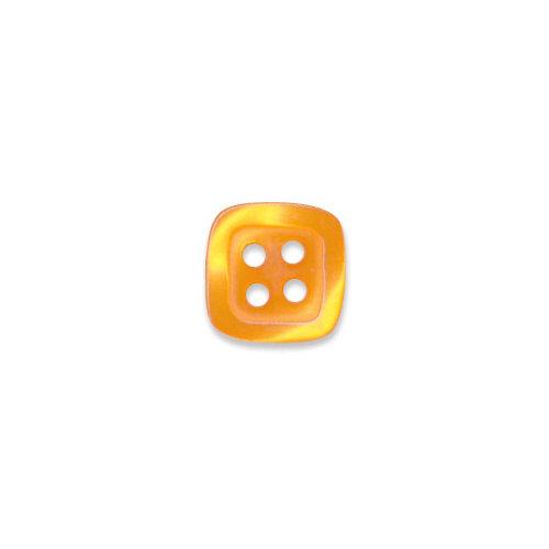 Doodlebug Design - Oodles - Buttons - Square - 13 mm - Tangerine
