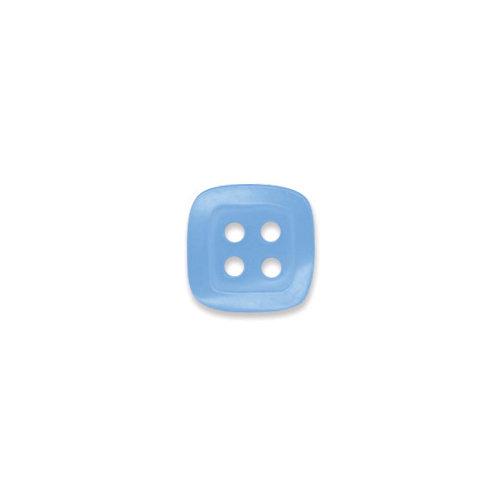 Doodlebug Design - Oodles - Buttons - Square - 13 mm - Blue Bell