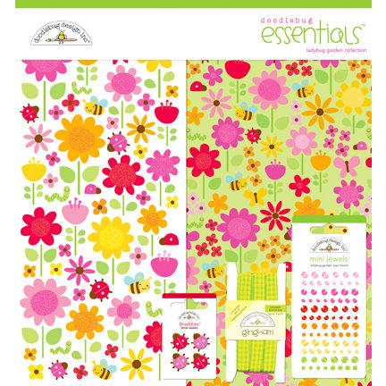 Doodlebug Design - Ladybug Garden Collection - Essentials Kit