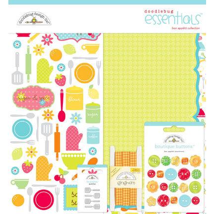 Doodlebug Design - Bon Appetit Collection - Essentials Kit