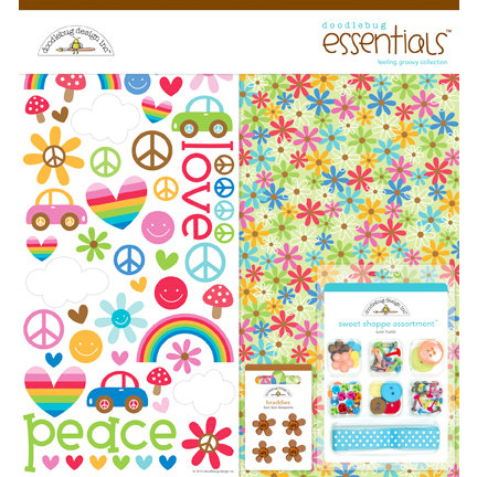 Doodlebug Design - Feeling Groovy Collection - Essentials Kit