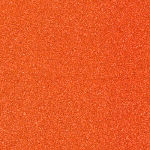 Doodlebug Design - Sugar Coated Cardstock - 12 x 12 Glittered Cardstock - Mandarin