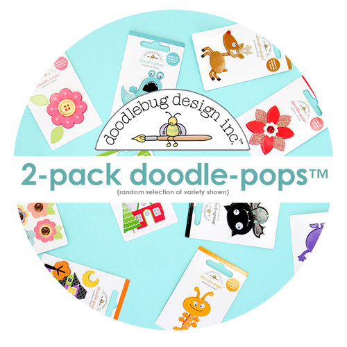 Doodlebug Design - Doodle-Pops - Dimensional Cardstock Stickers - 2-Pack Random Selection