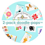 Doodelbug Design - Doodle-Pops - 3 Dimesional Cardstock Stickers - 2-Pack Random Selection