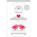 Doodlebug Design - Doodle-Pops - 3 Dimensional Cardstock Stickers - Love Birds