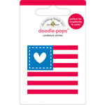 Doodlebug Design - Doodle-Pops - 3 Dimensional Cardstock Stickers - Red White and Blue