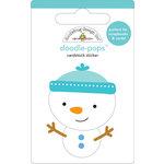 Doodlebug Design - Doodle-Pops - 3 Dimensional Cardstock Stickers - Snowman