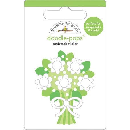 Doodlebug Design - Doodle-Pops - 3 Dimensional Cardstock Stickers - Bridal Bouquet