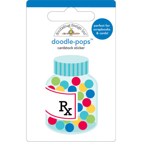 Doodlebug Design - Doodle-Pops - 3 Dimensional Cardstock Stickers - Get Well