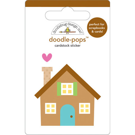 Doodlebug Design - Doodle-Pops - 3 Dimensional Cardstock Stickers - Home Sweet Home