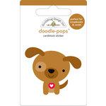 Doodlebug Design - Doodle-Pops - 3 Dimensional Cardstock Stickers - Puppy