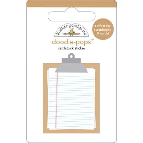 Doodlebug Design - Doodle-Pops - 3 Dimensional Cardstock Stickers - Memo