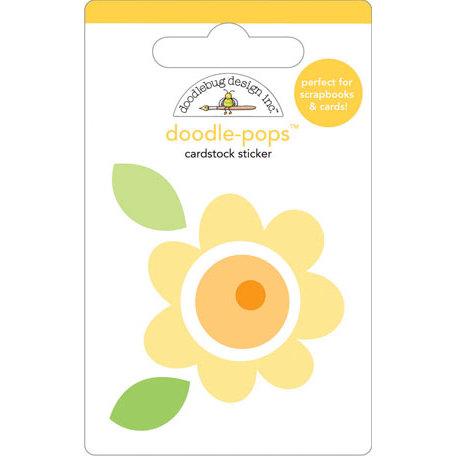 Doodlebug Design - Doodle-Pops - 3 Dimensional Cardstock Stickers - Buttercup