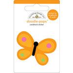 Doodlebug Design - Doodle-Pops - 3 Dimensional Cardstock Stickers - Butterfly