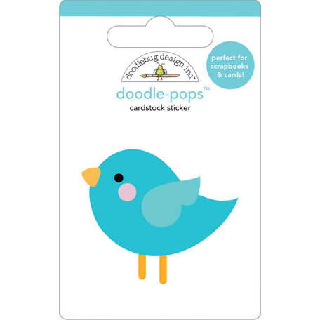 Doodlebug Design - Doodle-Pops - 3 Dimensional Cardstock Stickers - So Tweet
