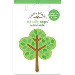 Doodlebug Design - Doodle-Pops - 3 Dimensional Cardstock Stickers - Maple