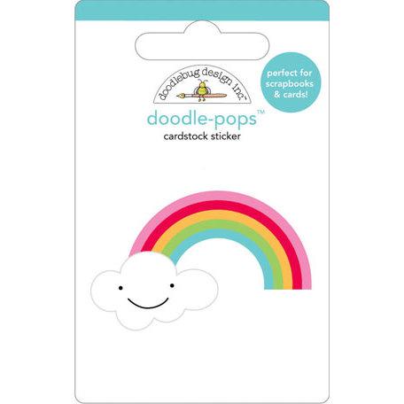 Doodlebug Design - Doodle-Pops - 3 Dimensional Cardstock Stickers - Rainbow