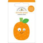Doodlebug Design - Doodle-Pops - 3 Dimensional Cardstock Stickers - Punkin
