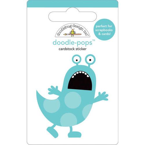 Doodlebug Design - Doodle-Pops - 3 Dimensional Cardstock Stickers - Scaredy