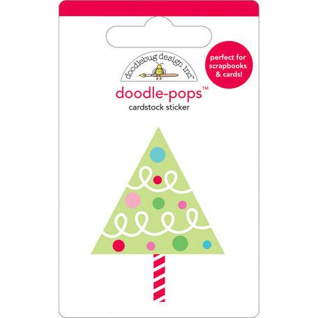 Doodlebug Design - Doodle-Pops - Christmas - 3 Dimensional Cardstock Stickers - O Christmas Tree