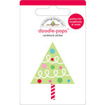 Doodlebug Design - Doodle-Pops - Christmas - 3 Dimensional Cardstock Stickers - O Christmas Tree