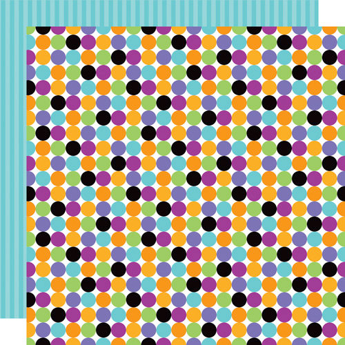 Doodlebug Design - Monster Mania Collection - Halloween - 12 x 12 Double Sided Paper - Monster Dots