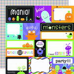 Doodlebug Design - Monster Mania Collection - Halloween - 12 x 12 Double Sided Paper - Monster Mania Assorted Cut-Outs