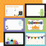 Doodlebug Design - Monster Mania Collection - Halloween - 12 x 12 Double Sided Paper - Monster Mania 4 x 6 Cut-Outs