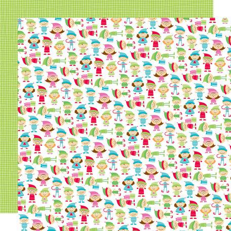 Doodlebug Design - Santa's Workshop Collection - Christmas - 12 x 12 Double Sided Paper - Little Helpers