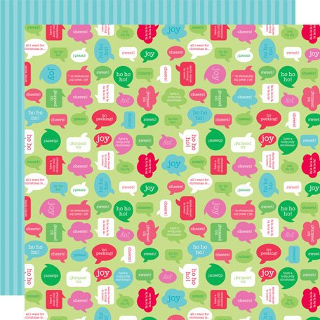 Doodlebug Design - Santa's Workshop Collection - Christmas - 12 x 12 Double Sided Paper - Cheery Chat