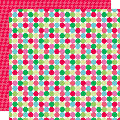 Doodlebug Design - Santa's Workshop Collection - Christmas - 12 x 12 Double Sided Paper - Jolly Dots