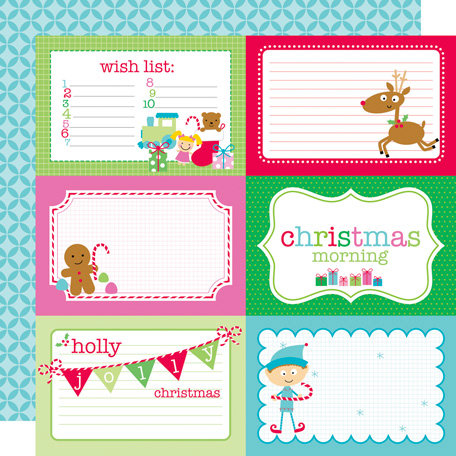 Doodlebug Design - Santa's Workshop Collection - Christmas - 12 x 12 Double Sided Paper - Santa's Workshop 4 x 6 Cut-Outs