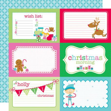 Doodlebug Design - Santa's Workshop Collection - Christmas - 12 x 12 Double Sided Paper - Santa's Workshop 4 x 6 Cut-Outs