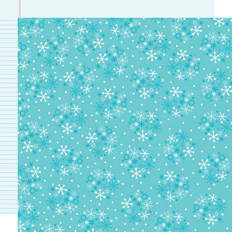 Doodlebug Design - Santa's Workshop Collection - Christmas - 12 x 12 Sugar Coated Double Sided Paper - Snowfall