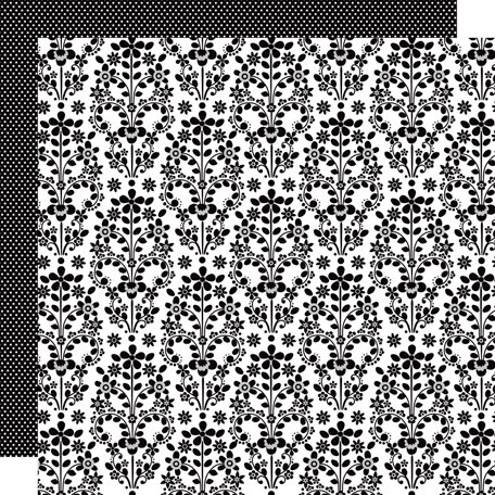 Doodlebug Design - Classic Collection - 12 x 12 Double Sided Paper - Cascading Floral