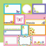 Doodlebug Design - Colorwheel Collection - 12 x 12 Double Sided Paper - Colorwheel Assorted Cut-Outs
