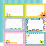 Doodlebug Design - Colorwheel Collection - 12 x 12 Double Sided Paper - Colorwheel 4 x 6 Cut-Outs