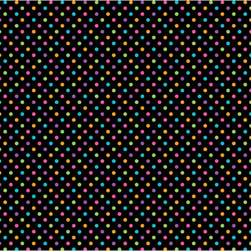Doodlebug Design - Sugar Coated Cardstock - 12 x 12 Spot Glittered Cardstock - Black Rainbow