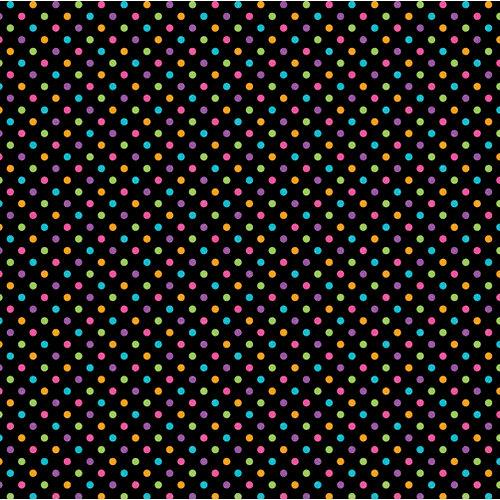 Doodlebug Design - Sugar Coated Cardstock - 12 x 12 Spot Glittered Cardstock - Black Rainbow